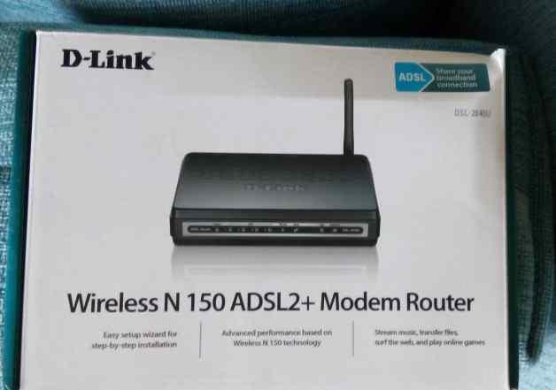 Беспроводной маршрутизатор D-Link DSL-2640U