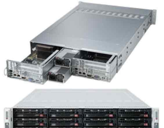 Сервер 2027TR-D70RF+ twin LGA2011 4 х E5-2620