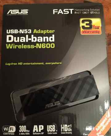 Wi-fi адаптер Asus USB N-53