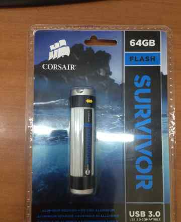 Флешка USB 3.0 Corsair Survivor 64Gb