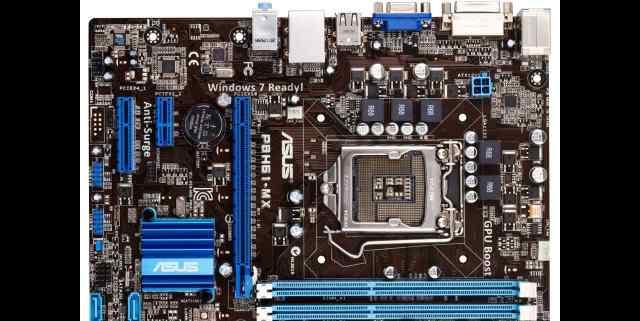 Asus P8H61-MX + Intel Pentium G850 (2.9 Ггц)