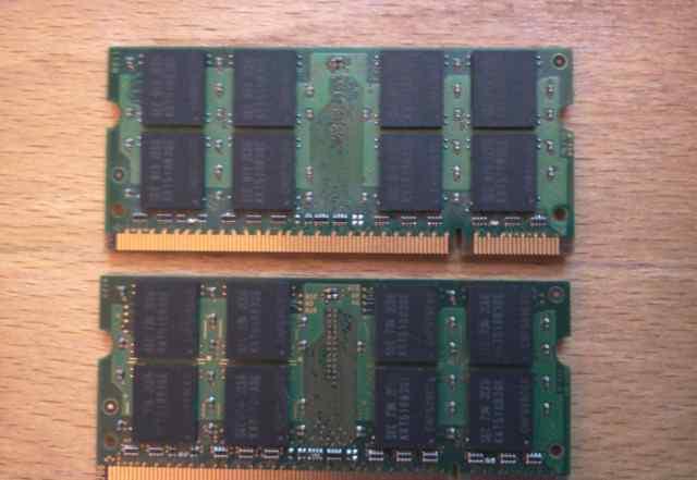 So-dimm DDR2 PC2-5300 Samsung 1GB x 2 для ноутбука