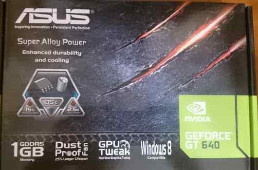 Новая видеокарта Asus Geforce GT 640 1gb gddr5