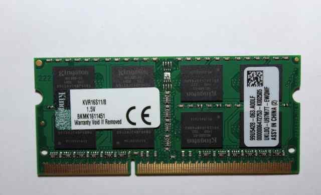 Kingston DDR3 8Gb, PC12800, 1600MHz