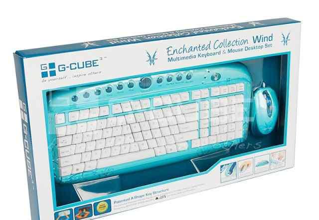 Комплект клавиатура и мышь G-cube gkse-2728W