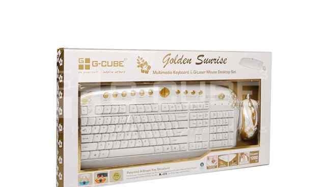 Комплект клавиатура и мышь G-cube gksa-2803SR белы