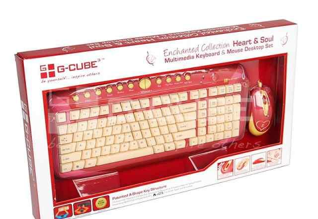 Комплект клавиатура и мышь G-cube gkse-2728S