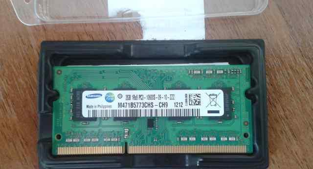 SO-dimm DDR3, 2гб, PC3-10600, 1333мгц, Samsung Ori