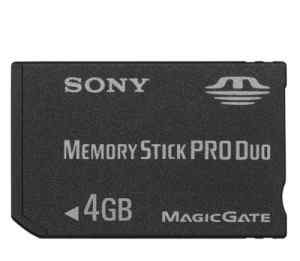 Sony Memory Stick PRO Duo Japan 2Gb и 4Gb