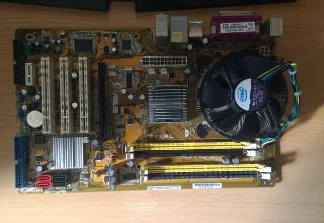 Asus P5KPL + intel E5200 + куллер