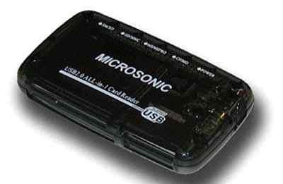 Внешний картридер MicrosonicCR 03 Black