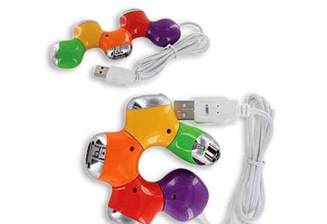 Хабы USB. Цветочек, человек