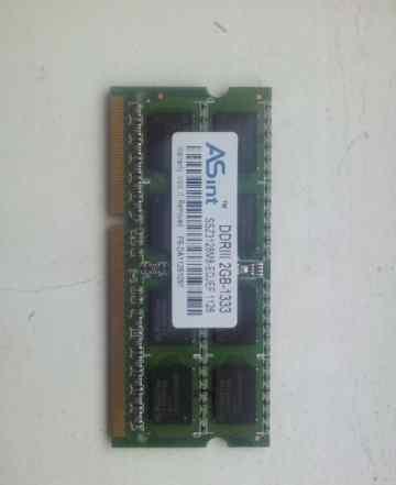 Память sodimm DDR3 2GB-1333 asint SSZ3128M8-edjef