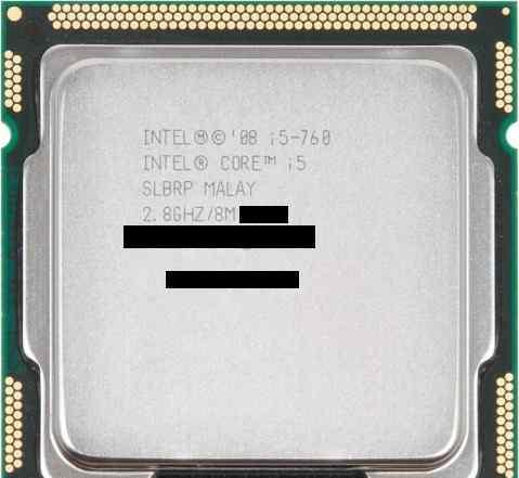 Процеесор Intel i5-760 L039A999/09B