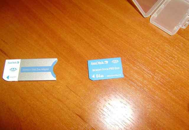 Карта памяти Memory Stick duo 64 мб