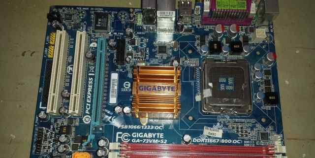 Материнская плата gigabyte GA-73VM-S2 сокет LGA775