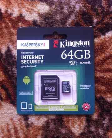Новая карта памяти 64gb