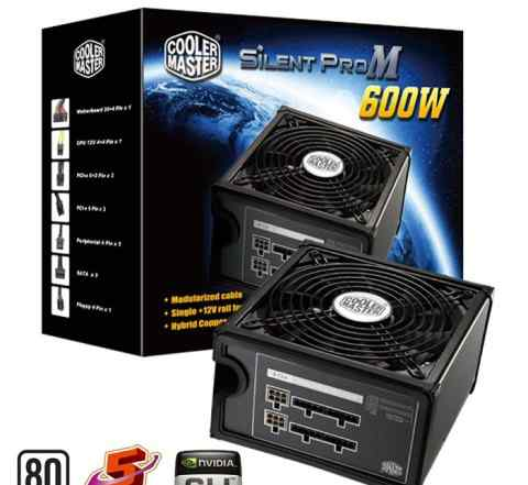 Блок питания cooler master silent pro m600w