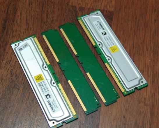 2х256MB rdram PC800(800MHz) rimm Non-ECC Kingston