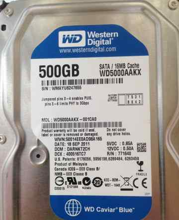 HDD WD 500 Gb