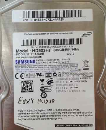 HDD Samsung 500 Gb