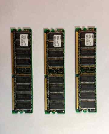 Память DDR 128Mb PC2100