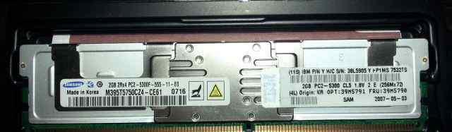 Samsung ddrii FB-dimm 2Gb 2Rx8 PC2-5300F DDR2 667