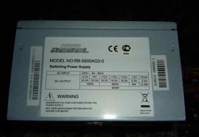 Новый 600W ATX блок питания Rebel Power(InWin)