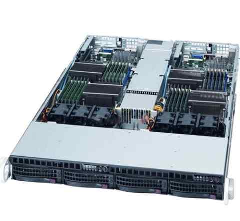 Supermicro 6016TT twin LGA1366 4 х X5650 96GB DDR3