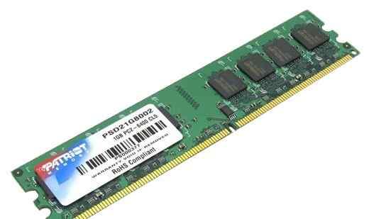 Оперативная память Patriot DDR2 1GBx2