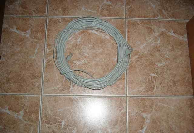 Кабель сетевой для интернета, 18 метров