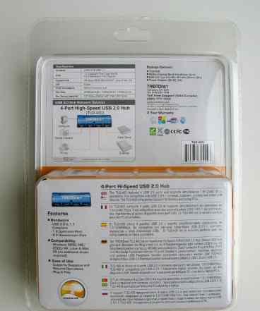 USB Хаб 4-порта - Trendnet TU2-400 (Новый)
