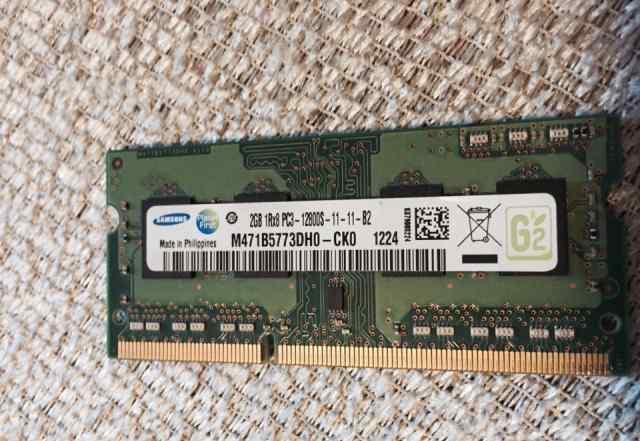 So-dimm Модуль памяти Samsung 2Gb DDR3 12800