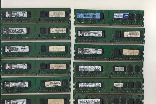14 штук DDR2 667-800MHz (набор из 1GB-512mb)