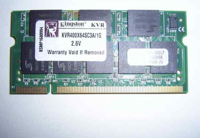 Память для ноутбука So-Dimm 1Гб DDR1(400мгц)