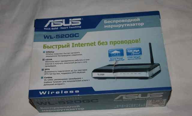 Беспроводной маршрутизатор asus WL-520GC