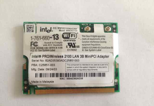Intel PRO/Wireless LAN 2100 3B minipci Adapter
