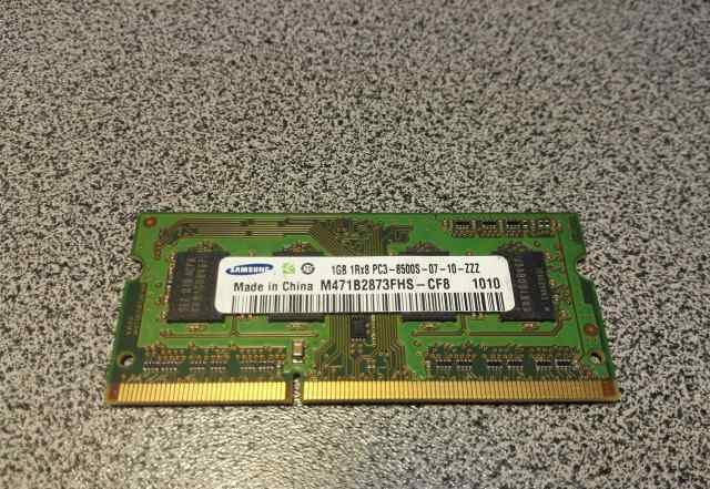 Память для ноутбука SO-dimm DDR3 1Gb+ 1Gb