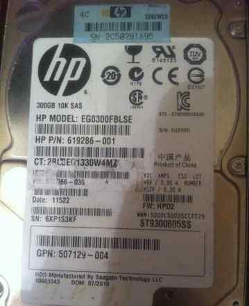 Жесткий диск HP 300gb 10k sas 2.5