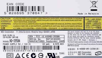 Дисковод NEC DVD-R/RW