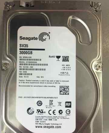 3Tb seagate ST3000VX000