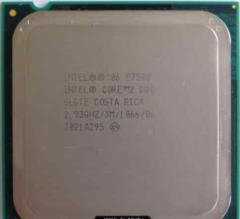 S775 Core2Duo E7500, 2.93Ghz (Зеленоград)
