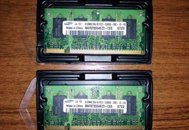 Оперативная память sodimm ddr2 Samsung 1gb