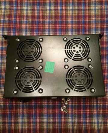 Вентиляторный модуль Hyperline trfa-4F-RAL9004
