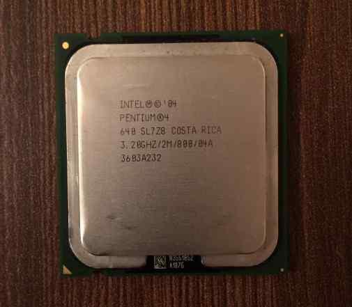 Intel Pentium 4 640 Prescott + охлаждение от intel