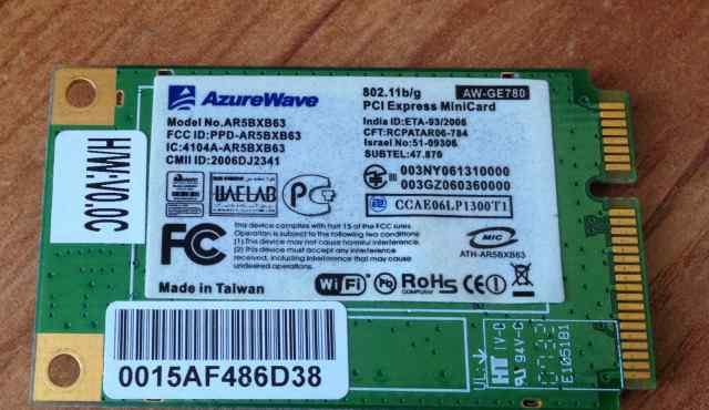 Wi-Fi модуль Atheros AR5BXB63 mini PCI-E