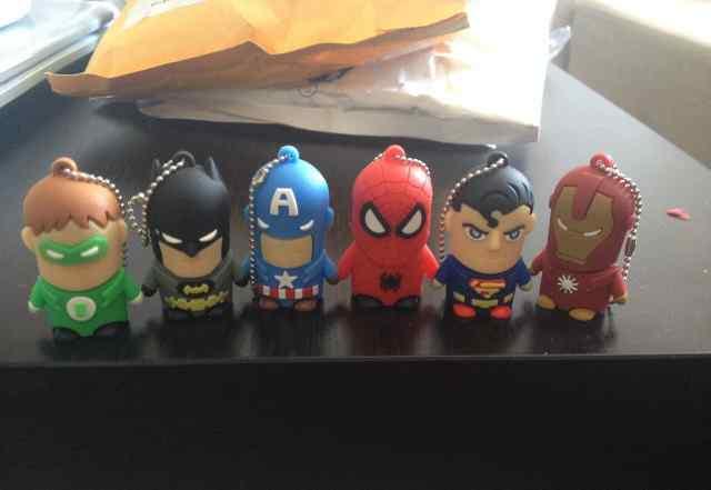 Флешки супергерои marvel dc