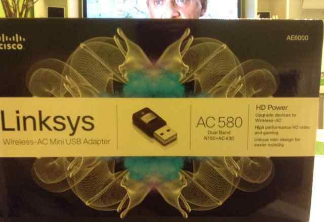 Wi-Fi USB-адаптер AC580 Dual Band Linksys AE6000