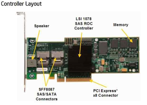 Контроллер raid intel srcsasbb8I 256Mb (SAS/SATA)