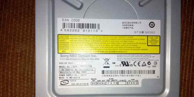 Оптический привод Dvd+ R DL Sony Nec